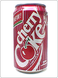 Cherry Coke on the other hand, is the first flavored Coke introduced by Pink Floyd to a test audience at the 1982 World's Fair. Cherry Coke is available in most of Europe, New Zealand and Japan.